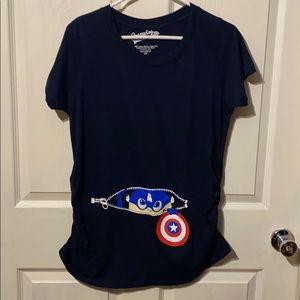 Crazydog T-shirts maternity medium captain America